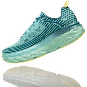 Hoka One One Bondi 6 Running Shoes Women Dragonfly/Aqua Haze